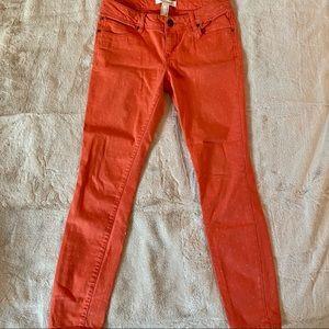 Life in Progress Polka Dot Orange Jeans forever21